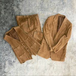 Vintage 70's 3 Piece Corduroy Suit